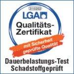 LGA Qualitäts-Zertifikat Siegel