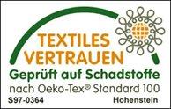 Textiles Vertrauen - geprüft auf Schadstoffe Siegel