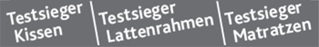 Kompetenz-Zentrum Testsieger Kissen, Lattenrahmen, Matratzen Piktogramm
