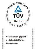 TUEV gepfruefte sicherheit logo - SILWApronto Wasserbett