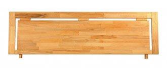 Novo Massivholzbett Kopfteil Linus Abbildung