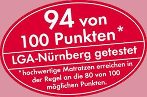 LGA-Nürnberg: Malie Pimavera 100 Punkte Matratze