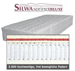 Silwa Spring Deluxe Boxpspringmatratze 3000 Federn