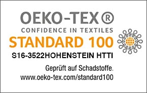 Oeko-tex Standard 100 S16-3522 Hohenstein HTTI