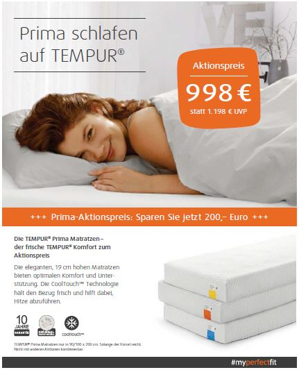 Tempur Hamburg Aktion