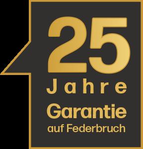25 Jahre Garantie auf Federbruch