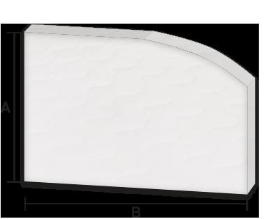 Boot und Caravan Matratze SILWA-Hobby Schablone mit Rundungen